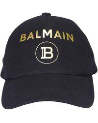 Balmain Printed Logo Baseball Cap - Black