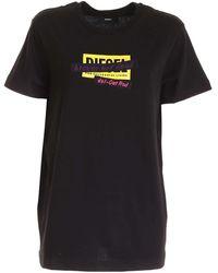 DIESEL T-Shirt T-Daria Nera - Nero