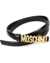 Moschino Cintura con logo - Nero
