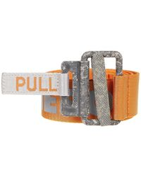 Heron Preston Reflective Tape Belt - Orange