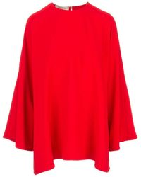 Valentino Cady Evolution Blouse In Red