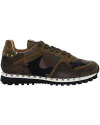 Valentino Garavani - Rockstud Camouflage Sneakers - Lyst