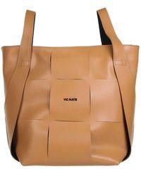 Vic Matié Nadege Bucket Bag In Beige - Natural