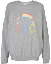 See By Chloé Felpa logo con stampa arcobaleno - Grigio