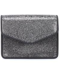 Alberta Ferretti Rhinestone-adorned Cross Body Bag - Metallic