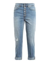 Dondup Koons Faded Denim Jeans - Blue