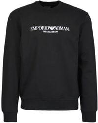 Emporio Armani Logo Print Black Sweatshirt