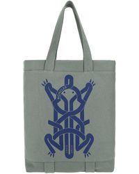 Moncler Printed Shopping Bag - Green