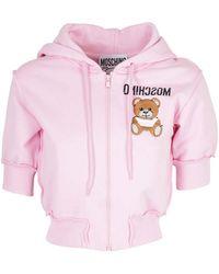 Moschino Teddy Logo Sweater - Pink