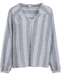 Woolrich Long Sleeved Striped Blouse - Grey