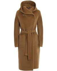 Tagliatore Daisy Alpaca And Wool Hooded Coat - Brown