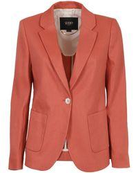 Seventy Wool Blend Blazer - Orange