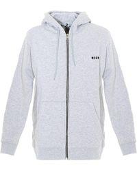 MSGM Grey Zipped Hoodie - Gray