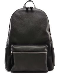 Orciani Hammered Leather Backpack - Green