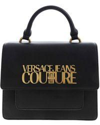 Versace Jeans Couture Logo Handbag In Black
