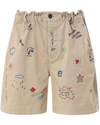 DSquared² - Cotton Twill Bermuda Shorts - Lyst