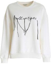 Ballantyne Embroidered Logo Sweatshirt - White