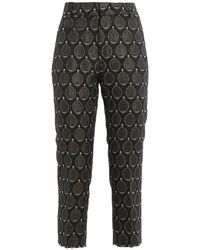 Dondup Ariel Jacquard Trousers - Black