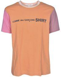 Comme des Garçons - Branded T-shirt In Orange And Pink - Lyst