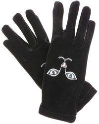 Vivetta Heise Cat Embroidered Gloves - Black