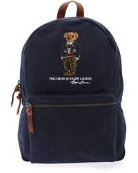 Polo Ralph Lauren Polo Bear Embroidery Backpack - Blue