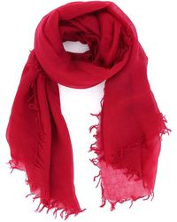 Aspesi Cashmere Gauze Scarf - Red