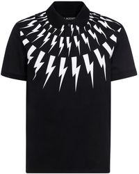 Neil Barrett Cotton Pique Polo Shirt - Black