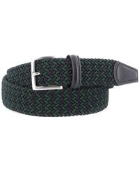 Andersons - Blue And Green Stretch Woven Fabric Belt - Lyst