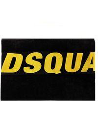 DSquared² Asciugamano da mare logato - Nero