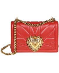 Dolce & Gabbana - 'devotion' Shoulder Bag Red - Lyst