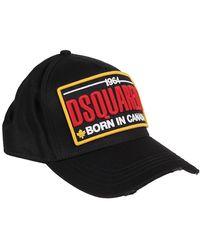 DSquared² - Cappellino in cotone con patch logo - Lyst