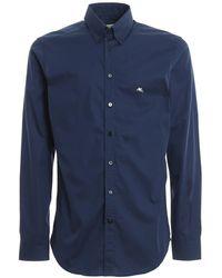 Etro - Button Down Blue Shirt - Lyst