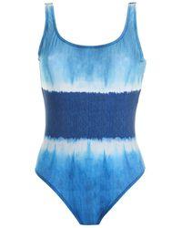 Alberta Ferretti Tie-dye One-piece Swimsuit In Blue
