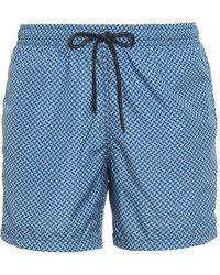 Drumohr Biscuit Patterned Swim Shorts - Blue