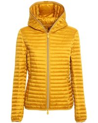 Save The Duck Alexis Hooded Puffer Jacket - Yellow