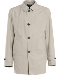 Herno Laminar Raincoat - Natural