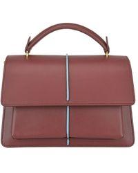 Marni Attache Leather Small Bag - Purple