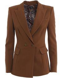 Elisabetta Franchi Double Crêpe Suit - Brown