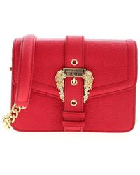 Versace Jeans Couture Baroque Buckle Bag - Red