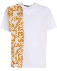 Versace Jeans Couture T-Shirt Bianca Con Ricamo Logo - Bianco