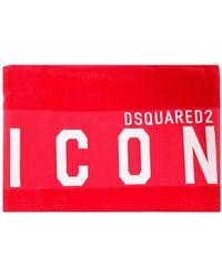 DSquared² Asciugamano da mare Icon - Rosso