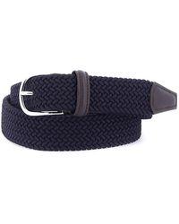 Andersons Deep Blue Stretch Woven Belt