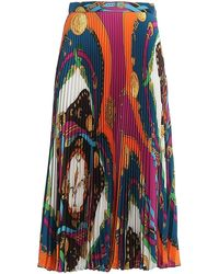 Versace Pleated Maxi Skirt - Multicolor