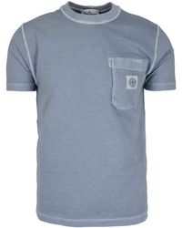 Stone Island Logo Patch T-shirt - Blue
