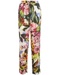 Blugirl Blumarine Floral Twill Trousers - Multicolour