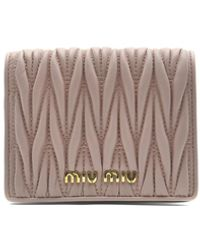 Miu Miu - Matelasse Nappa Leather Wallet - Lyst