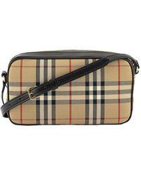 Burberry Vintage Check Camera Bag - Natural