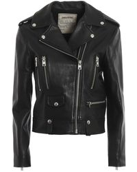 Zadig & Voltaire - Lenni Butterfly Leather Jacket - Lyst