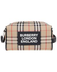 Burberry Vintage Check Beauty Case - Natural