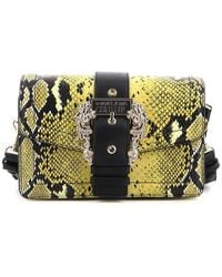 Versace Jeans Couture - Python Printed Leather Bag - Lyst